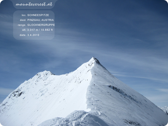 www.mounteverest.at: Schneespitze