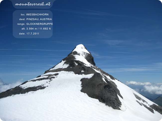 www.mounteverest.at: Wiesbachhorn